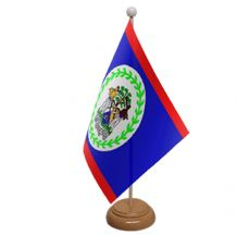 BELIZE - TABLE FLAG WITH WOODEN BASE